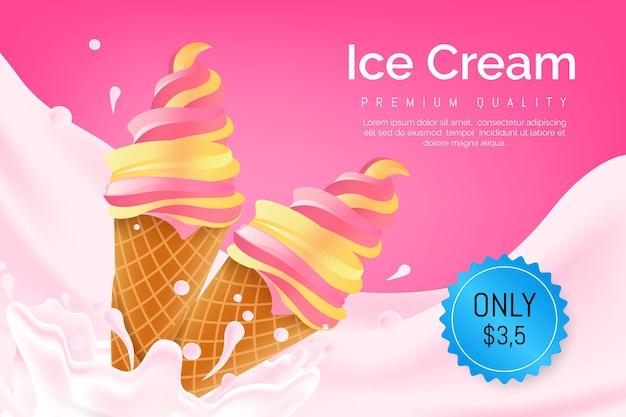 Annonce de crème glacée