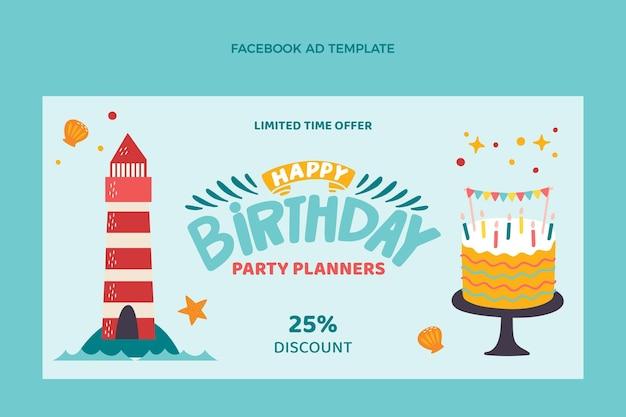 Annonce facebook anniversaire enfantin dessiné à la main