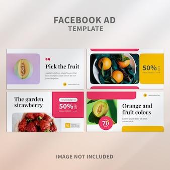 Annonce facebook de fruits colorés
