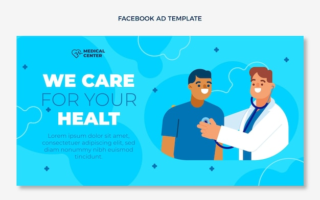 Annonce facebook médicale plate