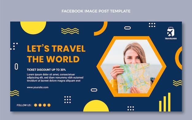 Annonce facebook de voyage à plat