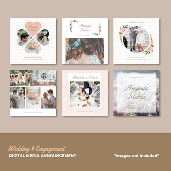 Annonce de mariage et de fiançailles sur les médias sociaux
