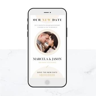 Annonce de mariage reportée
