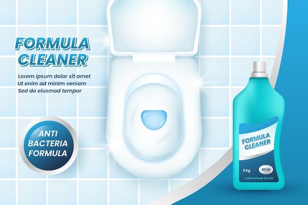 Annonce de produits de nettoyage réalistes