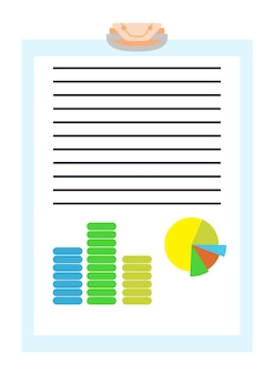 Annonce de service de notaire. document papier légal ou isolé sur fond bleu. illustration vectorielle de couleur dans un style plat.