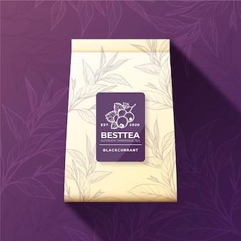 Annonce de thé avec décoration aquarelle