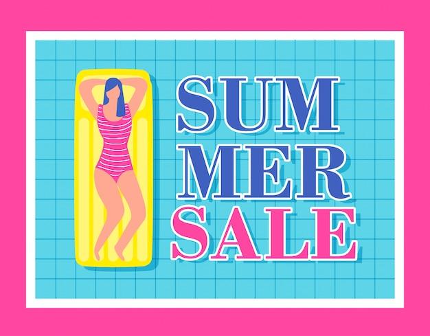 Annonce de vente d'été