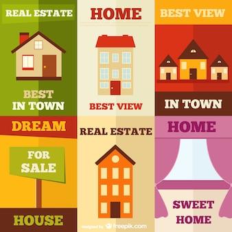 Annonces d'affiches de l'immobilier