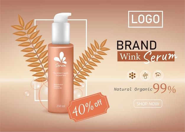 Annonces cosmétiques et bouteille fond de couleur pastel vecteur 3d scène pour montrer la vitrine du produit cosmétique