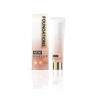 Annonces de fondations compactes, maquillage attrayant