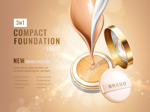Annonces glamour compact foundation
