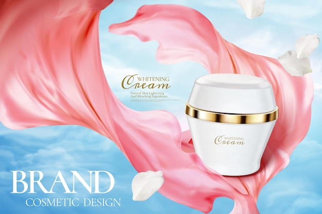 Annonces de pots de crème cosmétique