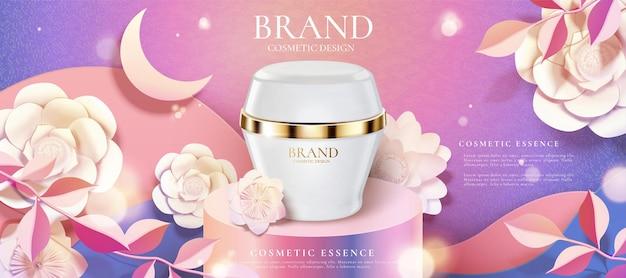 Annonces de produits de crème cosmétique