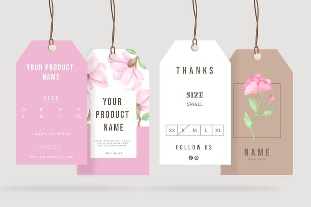 Annonces publicitaires cintres floraux de printemps