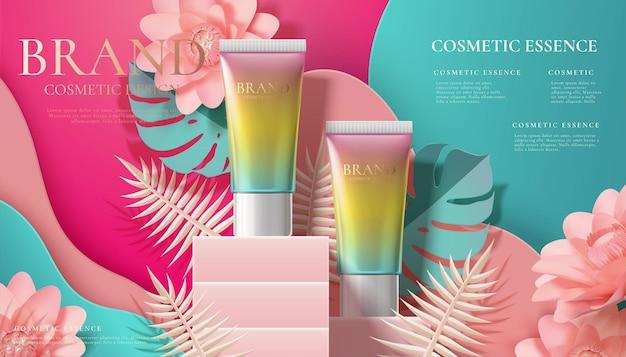 Annonces de tubes cosmétiques dégradés