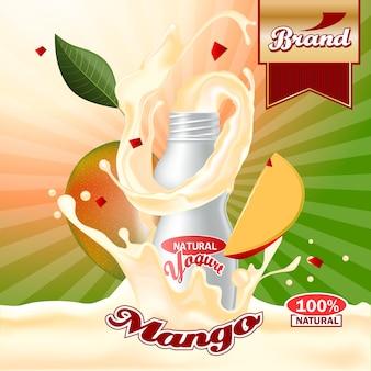 Annonces de yaourt à la mangue