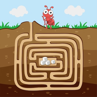 Ant find sugar animals jeux de labyrinthe