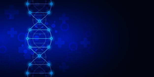 Antécédents de brin d'adn et génie génétique ou recherche en laboratoire