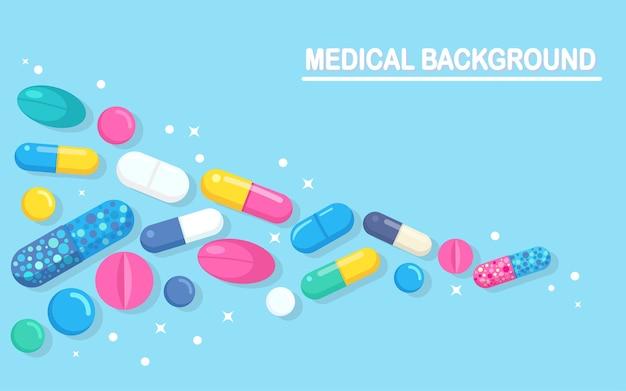Antibiotiques pharmaceutiques isolés sur bleu