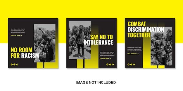 Antidiscrimination multiracial conception multiculturelle conception des médias sociaux juin 2