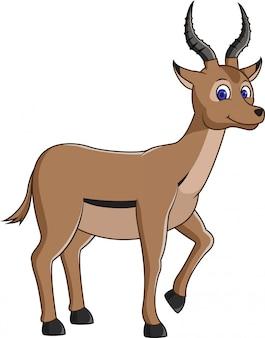 Antilope mignon dessin animé