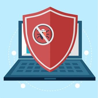 Antivirus conception d'arrière-plan