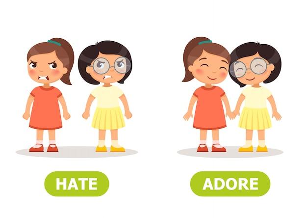 Antonymes illustration vectorielle et contraires