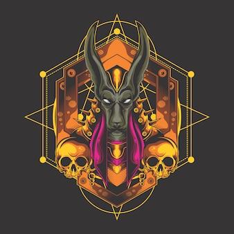 Anubis armure d'or
