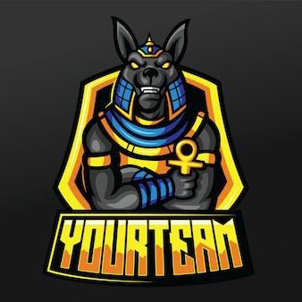 Anubis mummy king mascot sport illustration design