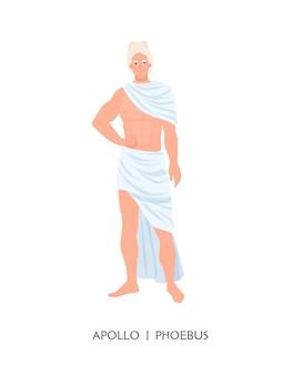 Apollon ou phoebus - dieu ou divinité de l'art, du soleil et de la guérison dans la religion et la mythologie grecques et romaines