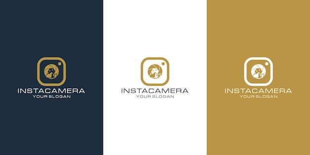 Appareil Photo Insta Vecteur Premium