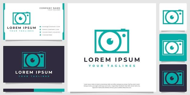 Appareil photo simple modèle de logo vectoriel pour la photographie