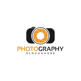 Appareil photo, vecteur de conception de logo de photographie