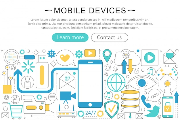 Appareils mobiles, concept de gadgets