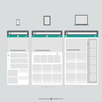 Appareils mobiles templates web