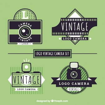 Appareils photo rétro logos pack