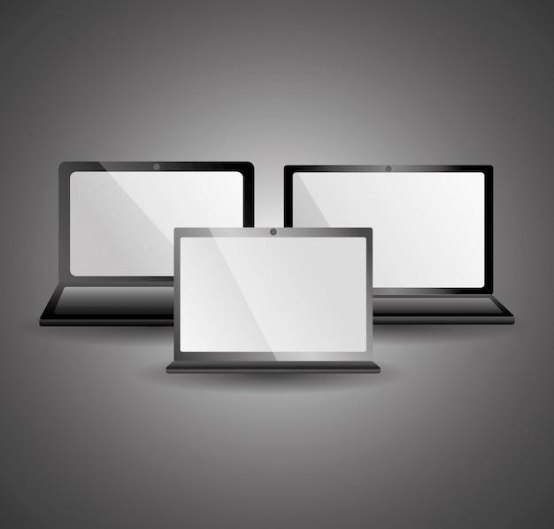 Appareils portables électroniques modernes gadgets équipements mobiles