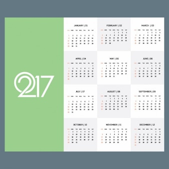 Appartement 2017 calendrier