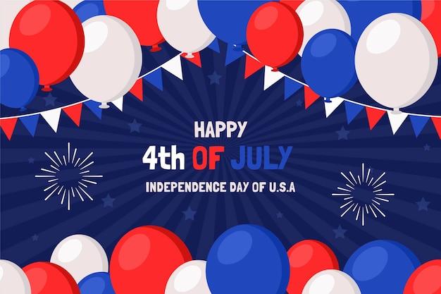 Appartement 4 juillet - fond de ballons de fête de l'indépendance