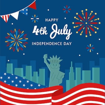Appartement 4 juillet - illustration de la fête de l'indépendance