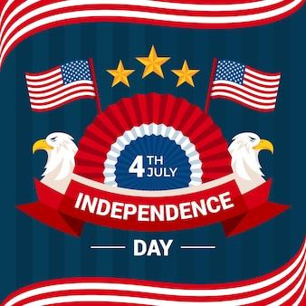 Appartement 4 Juillet - Illustration De La Fête De L'indépendance Vecteur gratuit