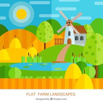 Appartement maison de ferme dans le paysage