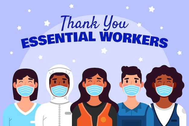 Appartement organique merci aux travailleurs de première ligne