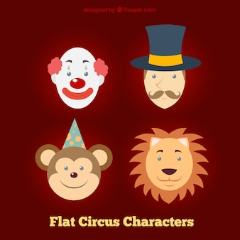 Appartement personnages de cirque visages