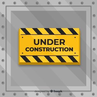 Appartement sous fond de signe de construction