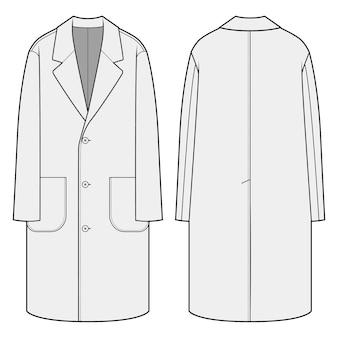 Appartements de mode manteau simple boutonnage long