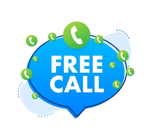 Appel gratuit. informatique. icône de téléphone. service clients. illustration vectorielle de stock.