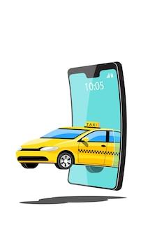 Appel de taxi en ligne et service en ligne