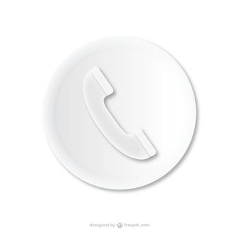 Appel téléphonique de l'icône en relief