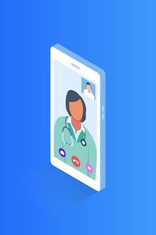 Appel vidéo avec un médecin